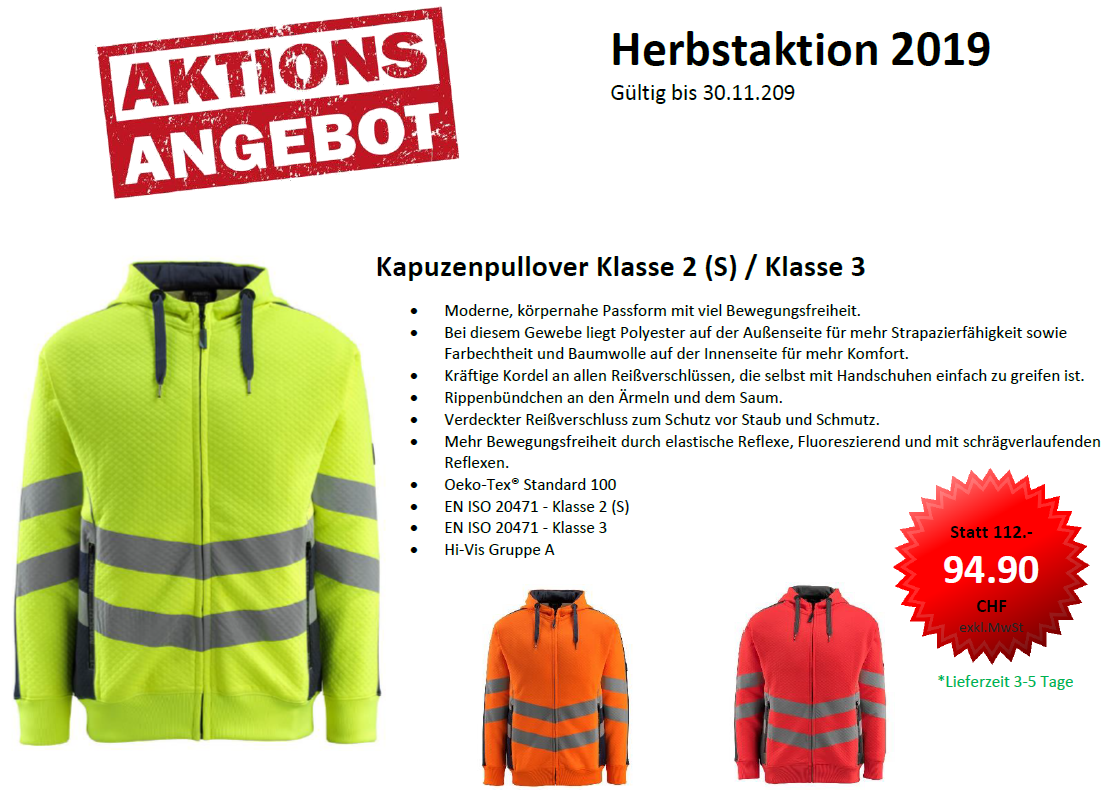 Mascot Herbstaktion 2019